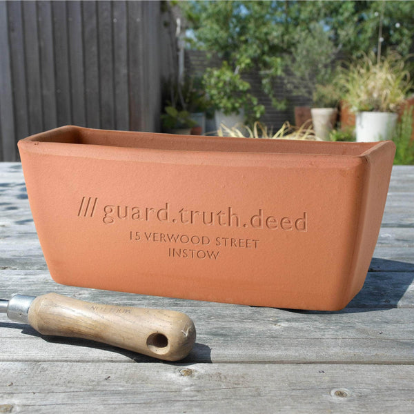 What3words Personalised Window Pot