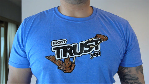 "Heather Royal Blue "" I Dont Trust You "" T Shirts"