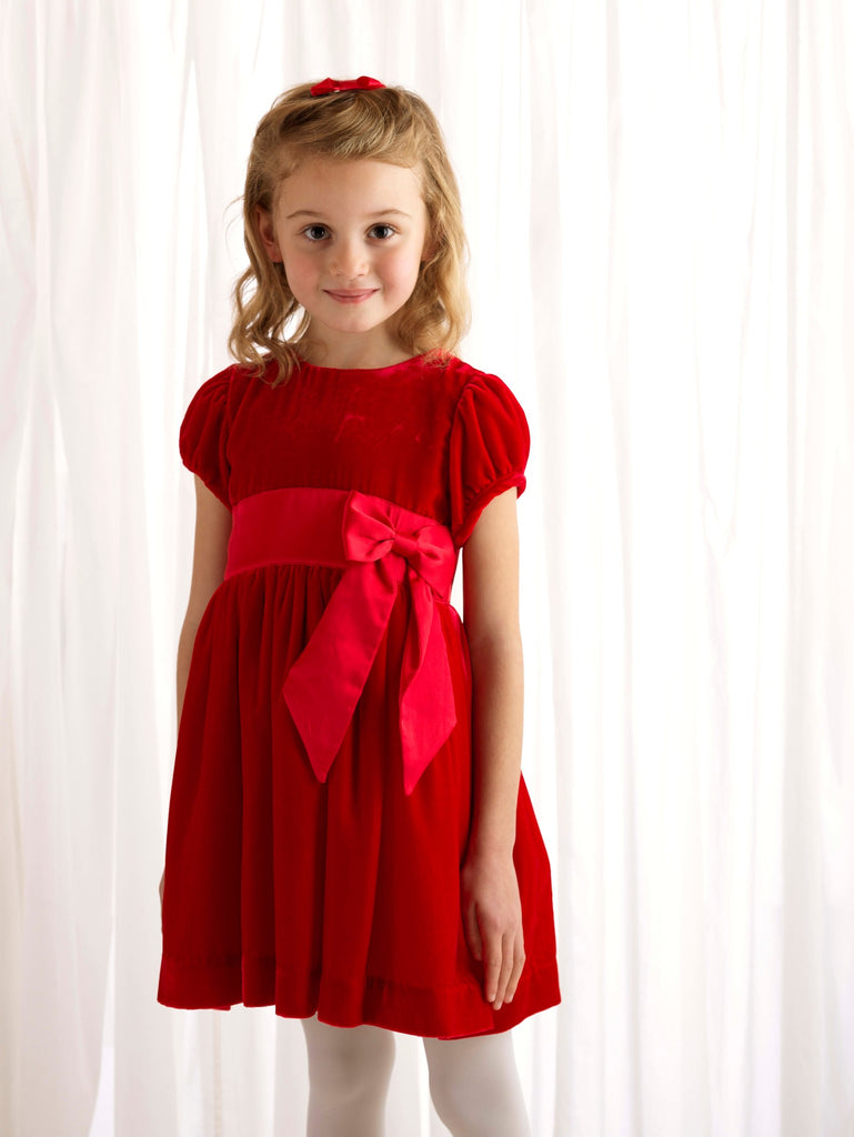 Velvet Maxi Bow Dress - Happy Milk