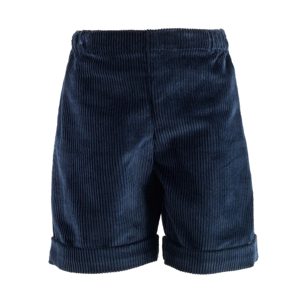 Corduroy Shorts (Navy) - Happy Milk