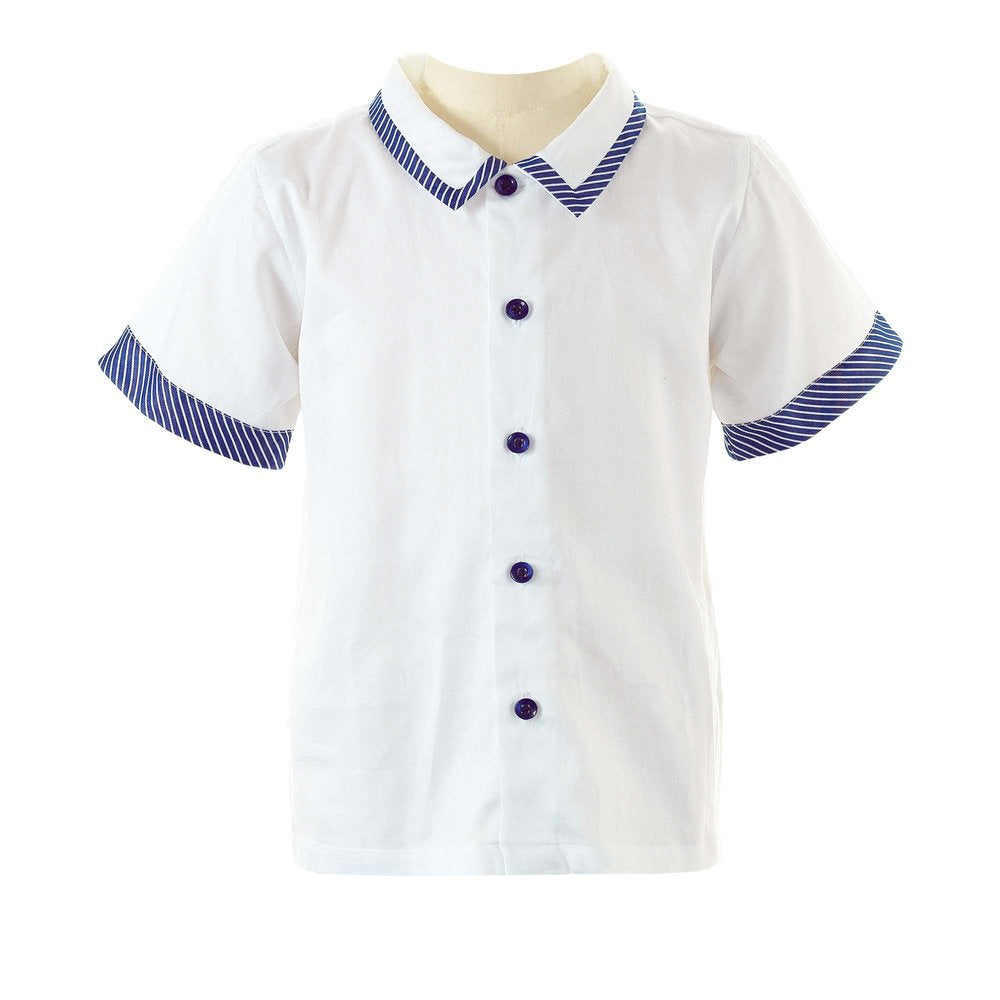 Stripe Trim Shirt - Happy Milk