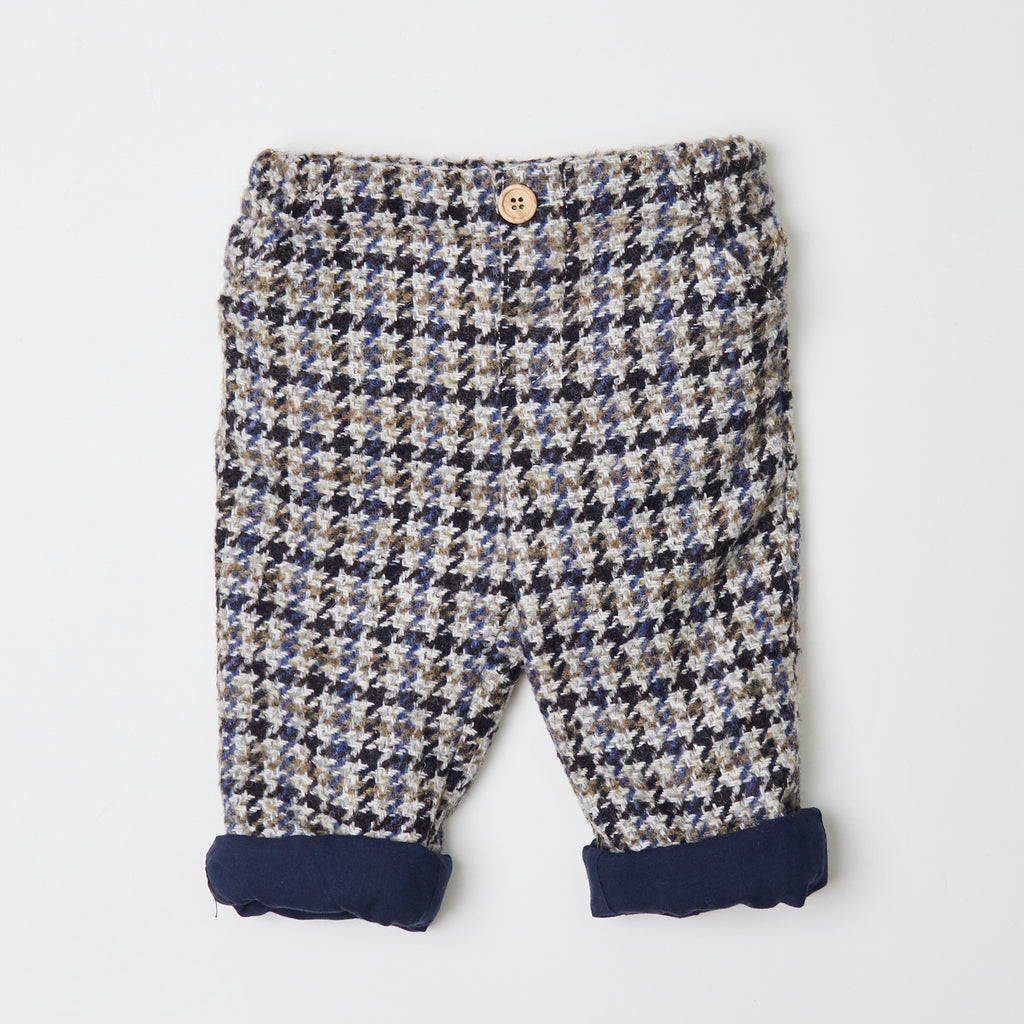 Checked Grey Winter Trousers