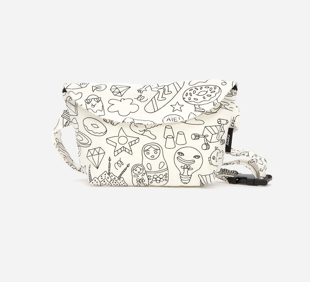 Fun Colouring Waist Bag - Happy Milk