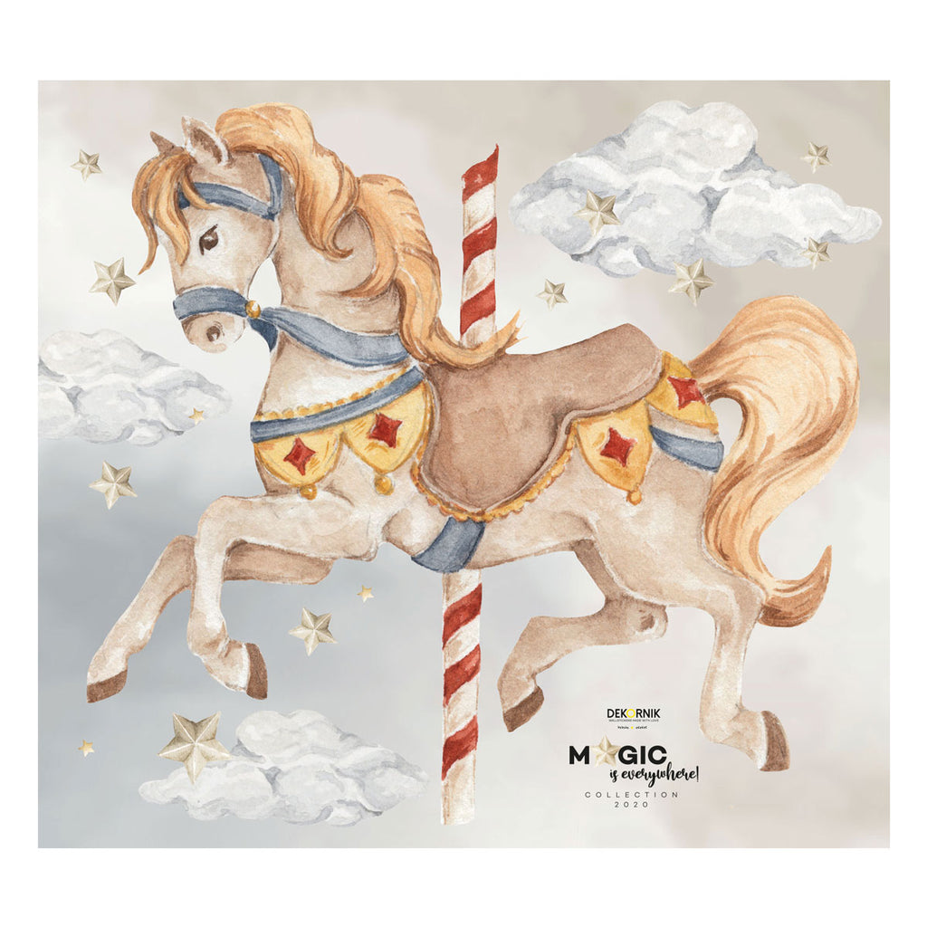 Carousel Pony Wall Stickers