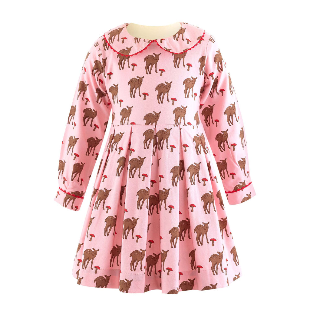 Deer Pleated Dress - Happy Milk