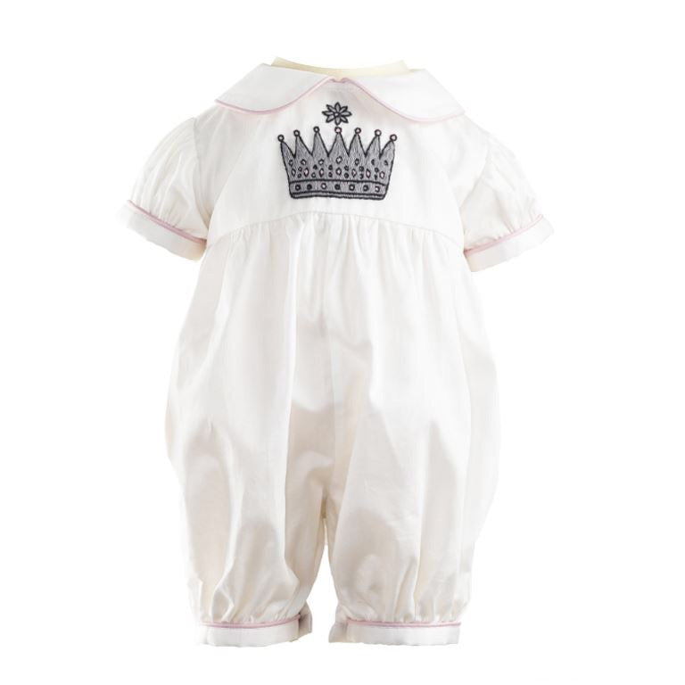 Princess Crown Embroidered Baby Suit - Happy Milk