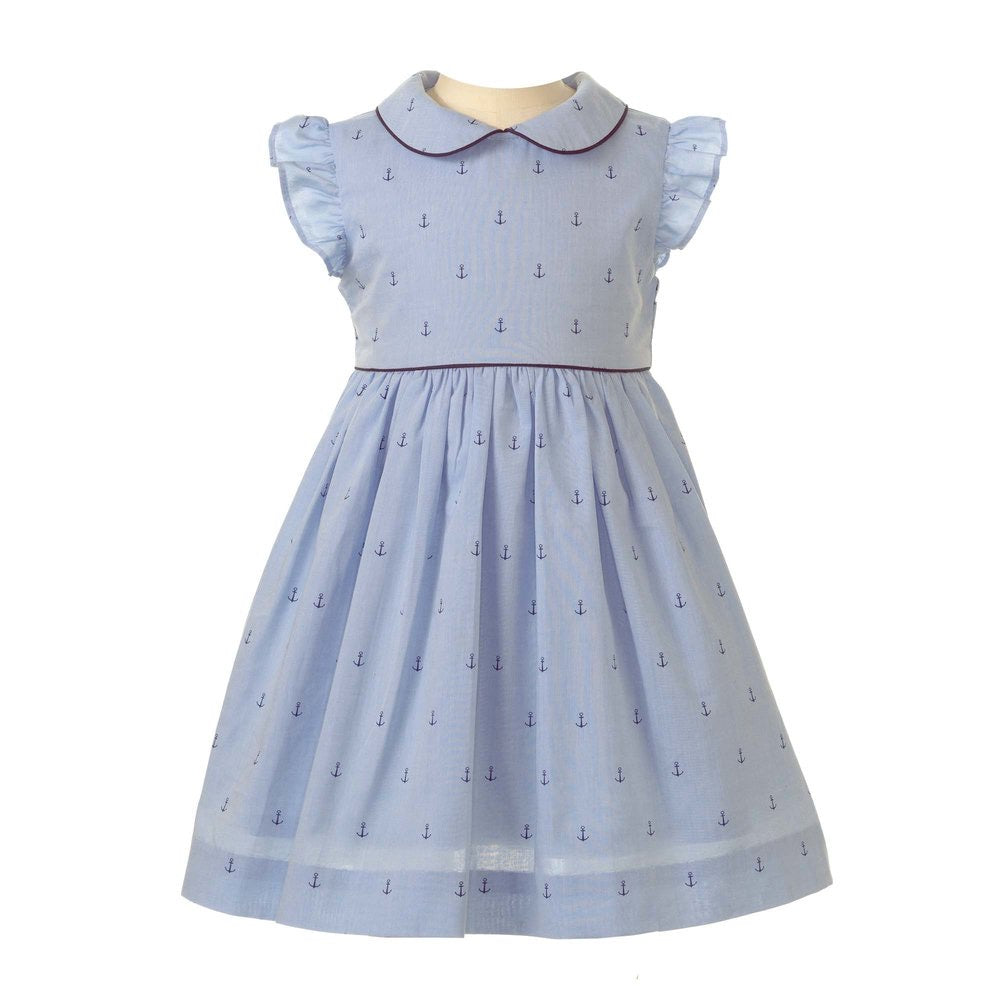 Oxford Anchor Frill Dress (HAPPY MILK EXCLUSIVE)