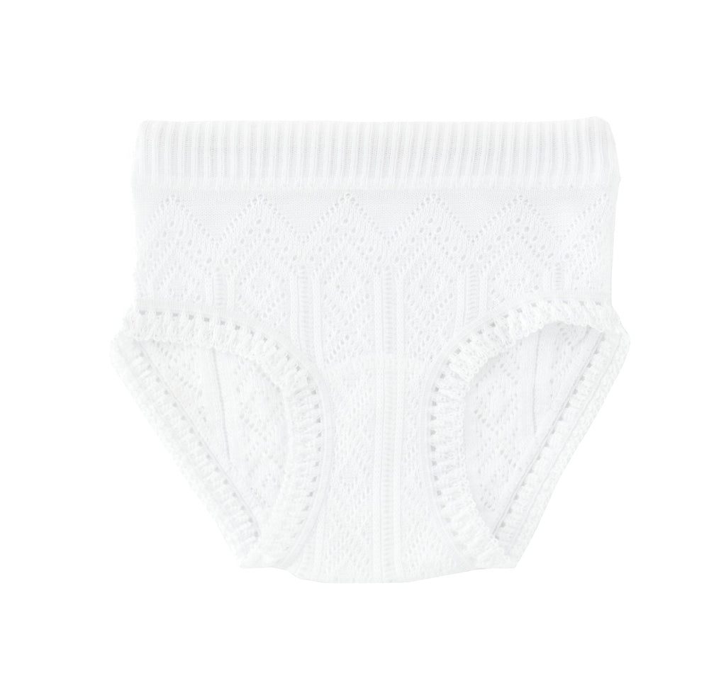 Perle Silk Lace White Girl's under pants - Happy Milk