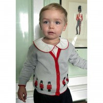 Peter Pan Collar Shirt (Ivory & Red) - Happy Milk
