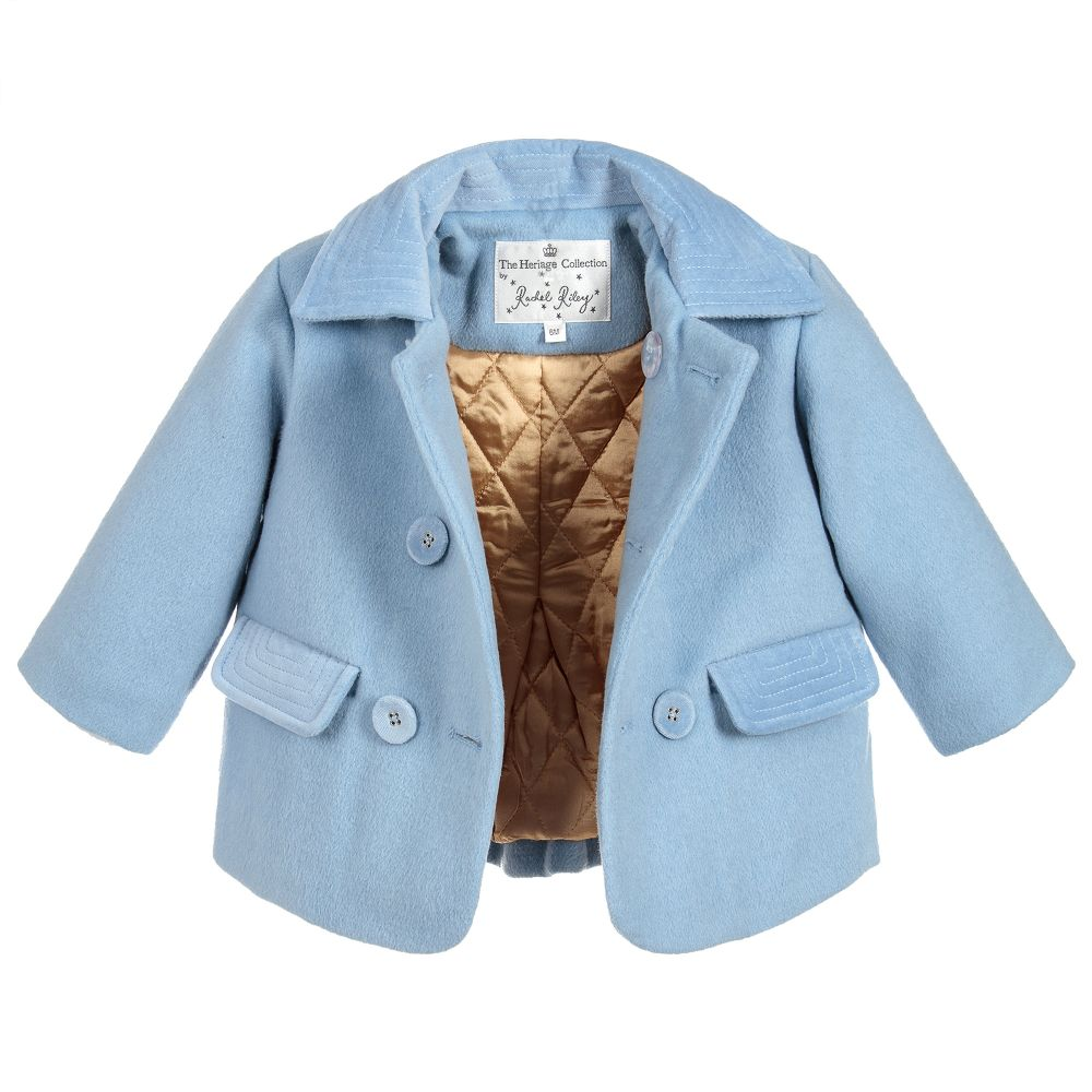 Baby Blue Velvet Coat - Happy Milk