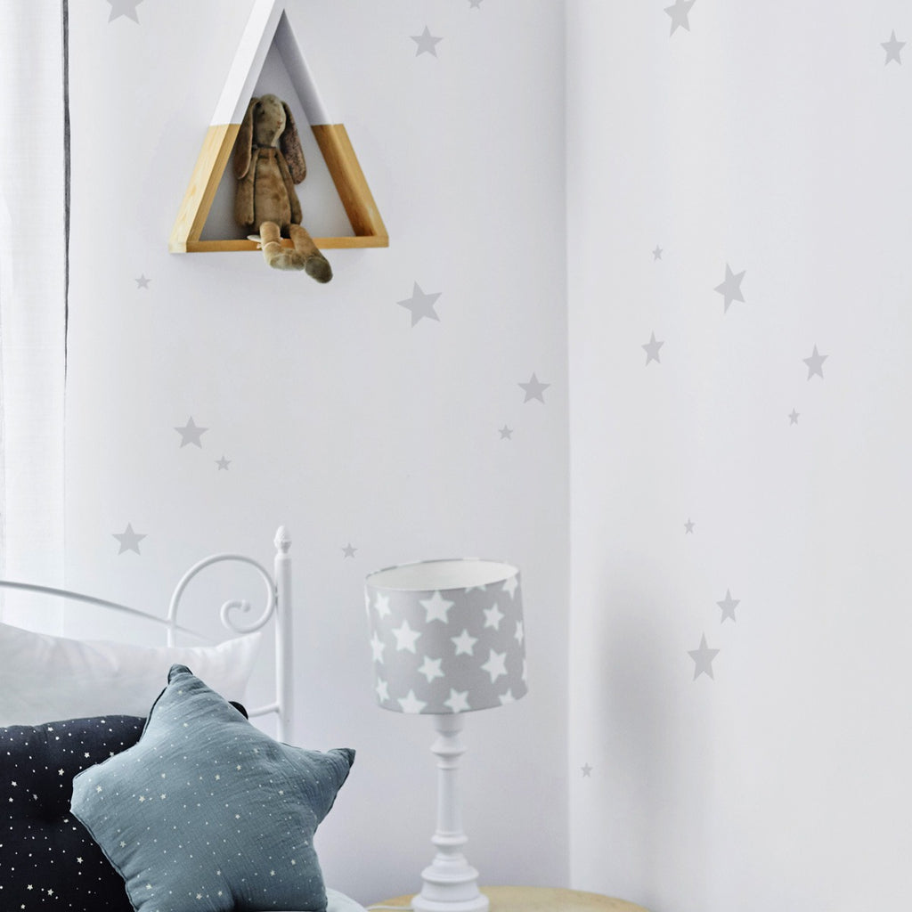 Stars Light Grey Wall Stickers