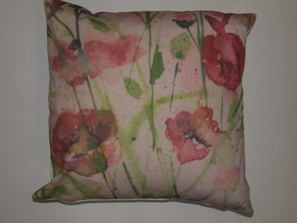 Poppy Burst 1/2 panama cushion