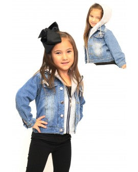 Childrens Denim Jacket With Hoodie