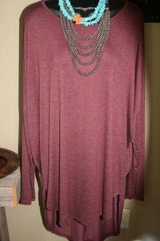 long sleeve cranberry shirt