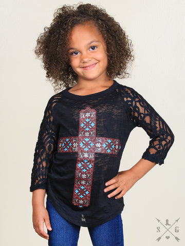 Girls 3/4 Sleeve T-Shirt
