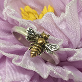 Bee Ring, 24kt Gold Plate, Honey Bee, Handmade USA - Judy's Jewelry Basket