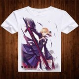 Fate stay night T-Shirt saber Archer Shirt custom t shirts Anime Cartoon Gift Kawaii Clothes printed t shirts fashion Hot Anime