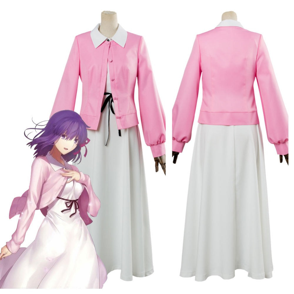 Fate Stay Night Heavens Feel Sakura Matou Cosplay Costume
