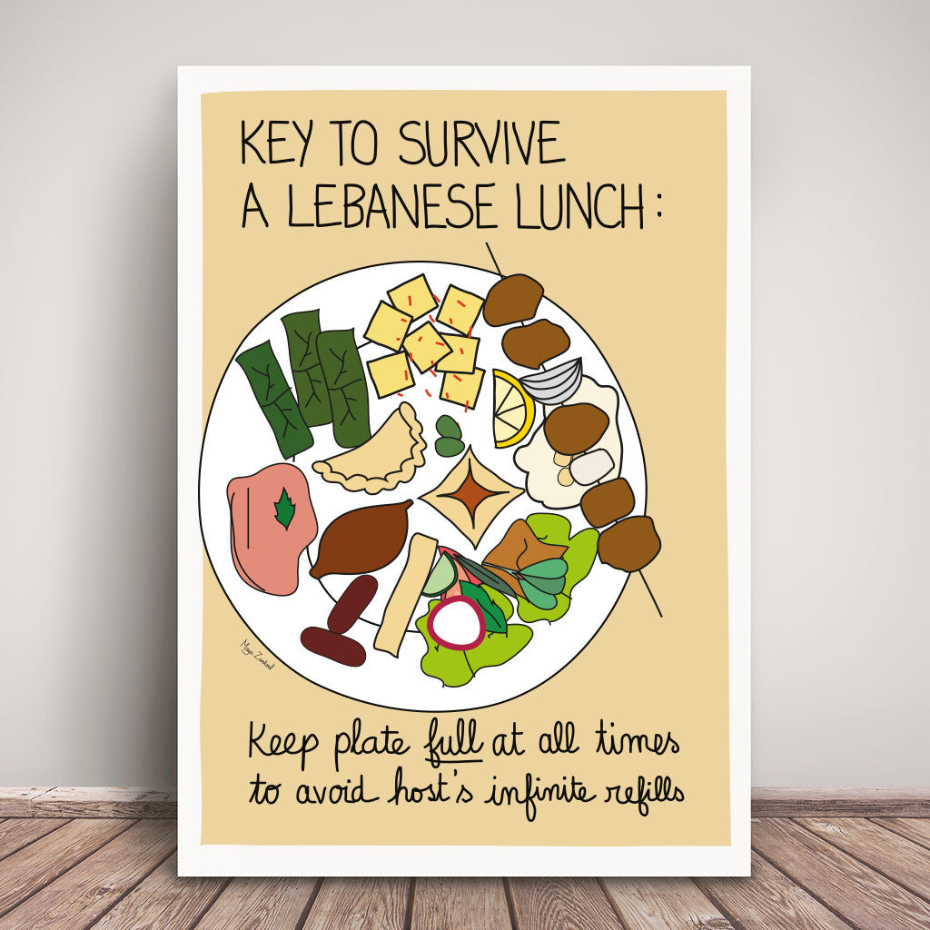 Surviving Lunch - Poster by Maya Zankoul