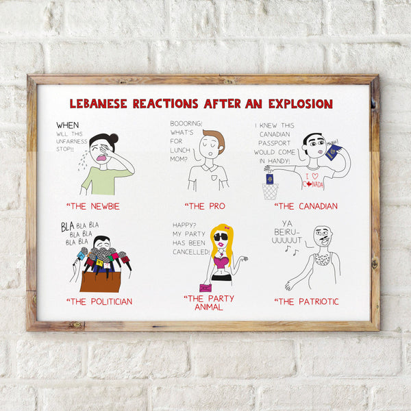 Explosion Reactions - Poster by Maya Zankoul