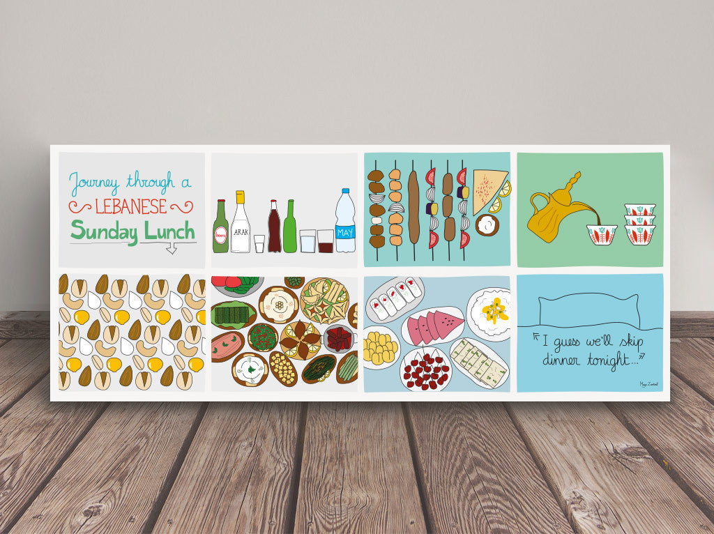 Journey Through Lunch - Poster by Maya Zankoul