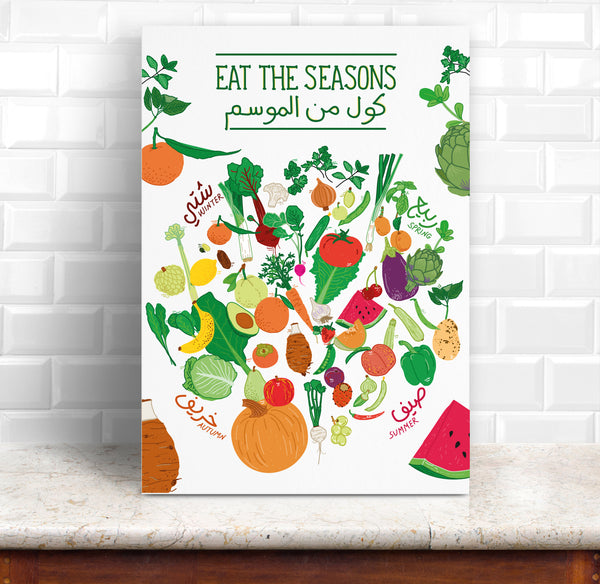 "Poster ""Eat The Seasons"""