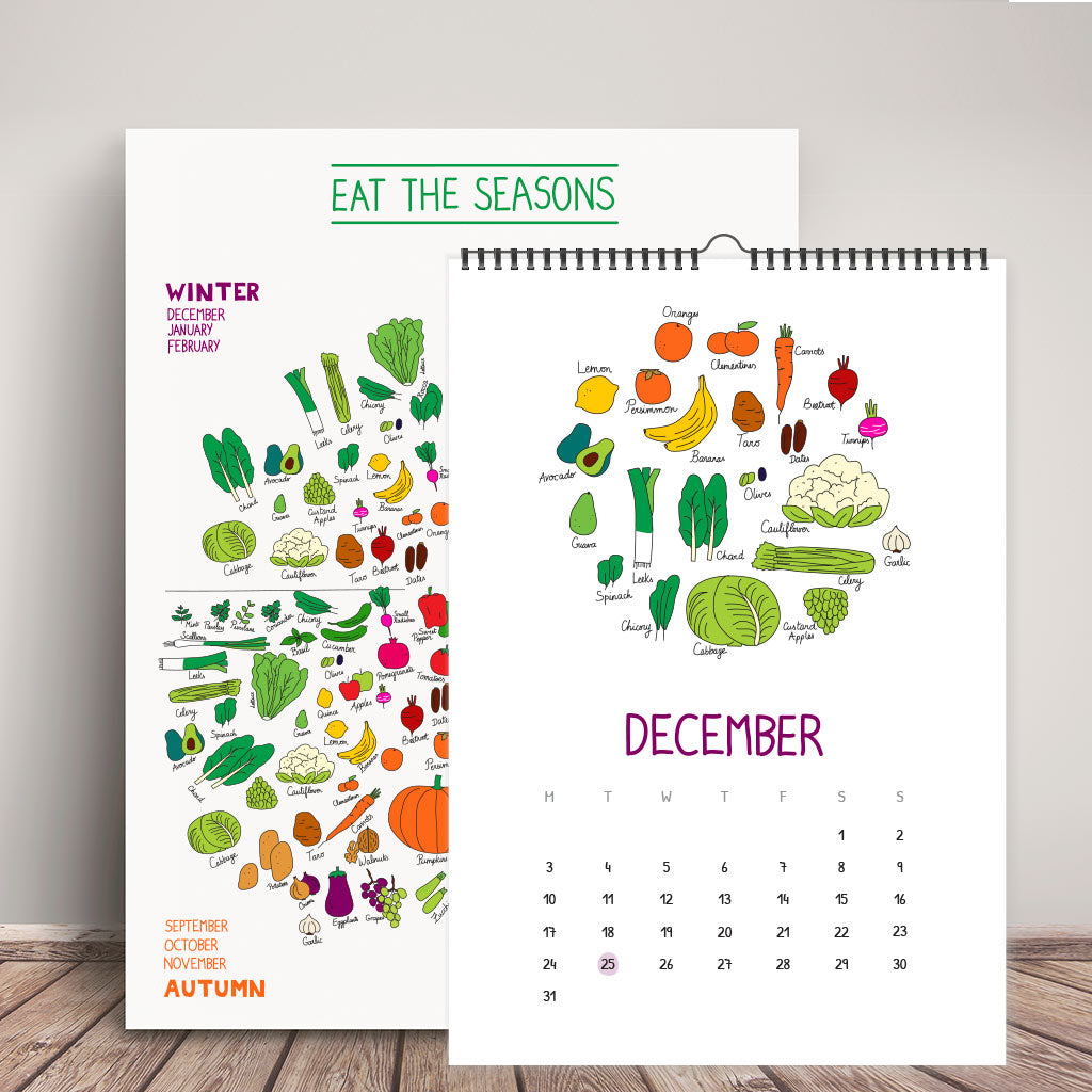 """Eat The Seasons"" Calendar + Poster"