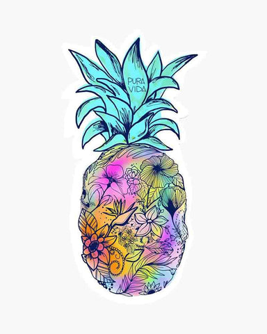 Pura Vida Bracelets -  Pineapple Palm Sticker