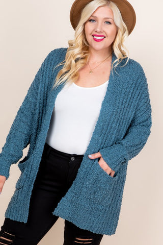 The Isabella Top (Sizes 1X-3X) - Teal