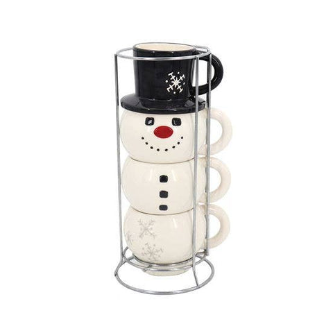 Snowman Stacking Mug Set