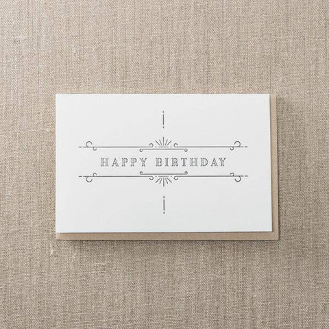 Happy Birthday Ornate Card