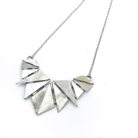 Geometric Shield Pendant Necklace