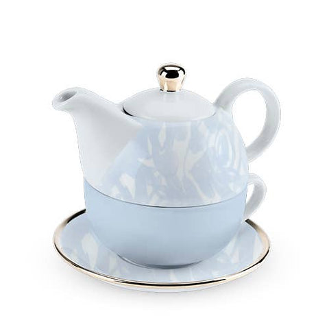 Addison Dusty Blue Floral Tea Set for One