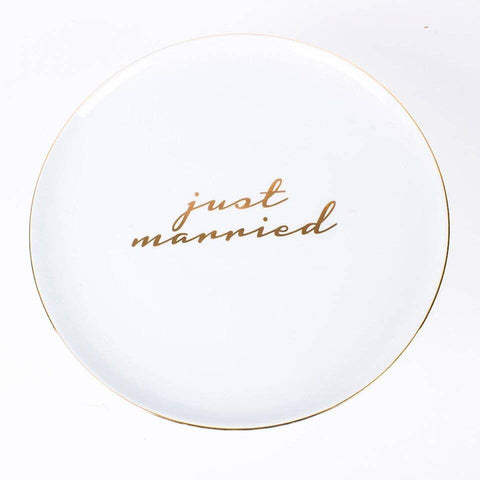 Just Married Cake Stand
