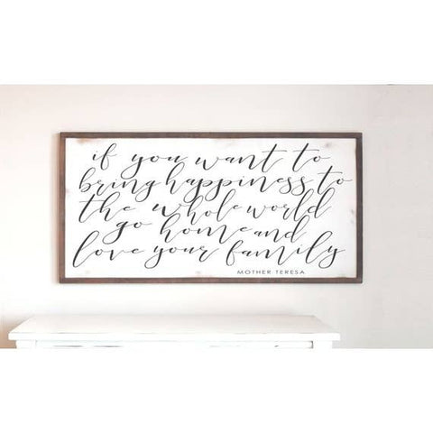 "9""x18"" Mother Teresa Quote Sign"