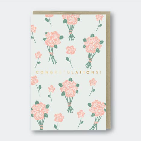 Congrats Flower Bunches Card