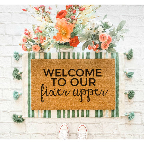 Welcome to Our Fixer Upper Doormat