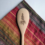 Texas Bluebonnets Wooden Spoon