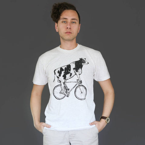 Cow on a Bicycle Tee