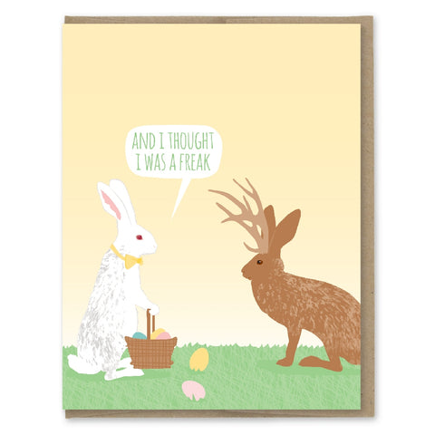 Freak Jackalope Easter Card