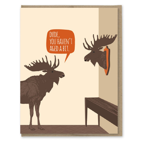 Aged Moose Trophy Card