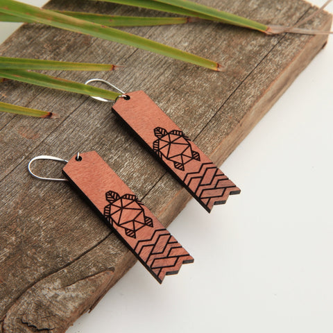 Honu Shoreline Wooden Eucalyptus Earrings