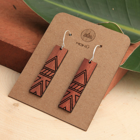 Tessler Wooden Eucalyptus Earrings