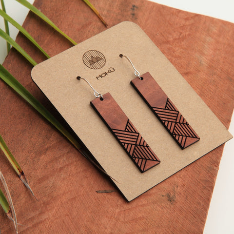 Weave Wooden Eucalyptus Earrings