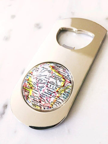 WI Map Bottle Opener