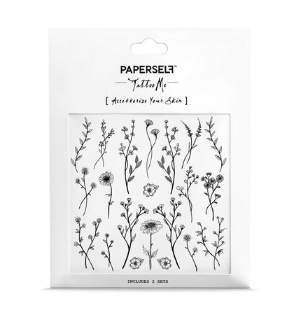 Wildflower Temporary Tattoo
