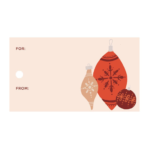 Nostalgia Ornaments Gift Tags (Double-Sided, 10 with Twine)