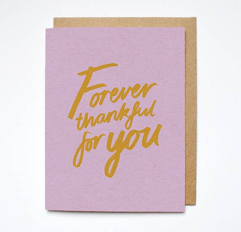 Forever Thankful For You Card