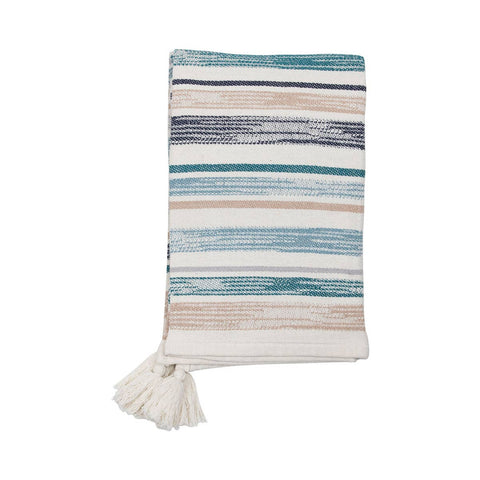 Handwoven Multi Hayes Blue Throw