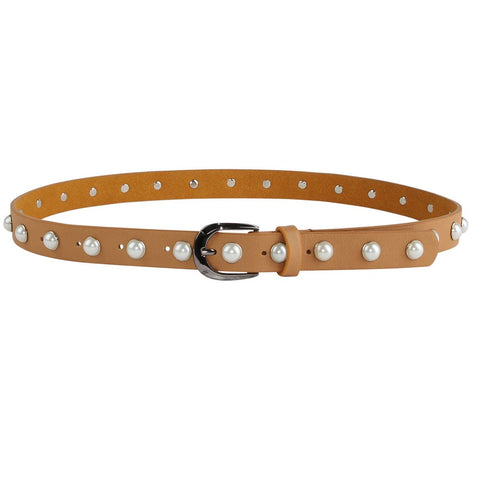 Leather Pearl Belt